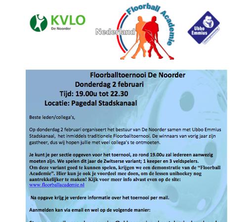 KVLO de Noorder en floorball