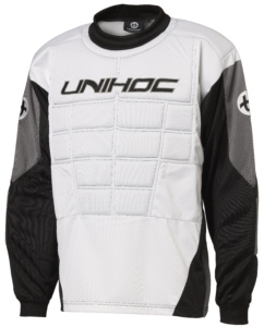 12474 Goalie sweater Blocker white black