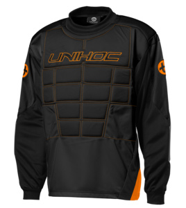 12690 Goalie sweater Blocker black-neon orange